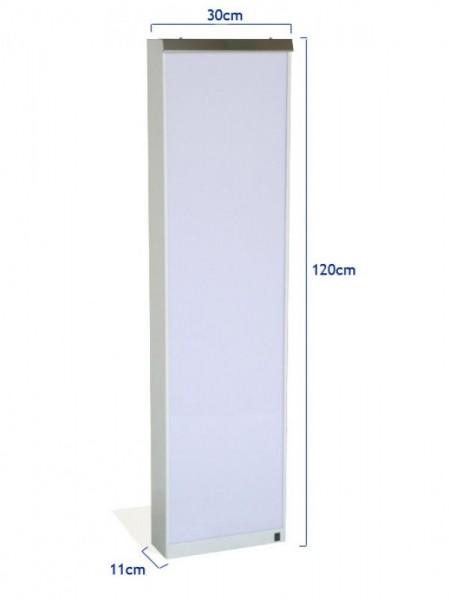 Negatoscop tip coloana de perete cu aprindere directă, mare 30x120