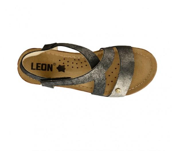 Sandale ortopedice pentru dame cu platforma Leon 1005 Negru