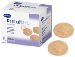 Plasture rotund ambalat individual DERMAPLAST sensitive spots