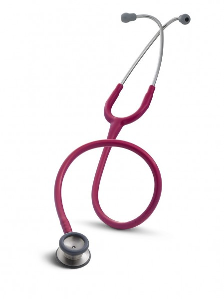 Stetoscop 3M Littmann Classic II Pediatric Roz Inchis - Zmeura 2122 + 2 Cd-uri educationale