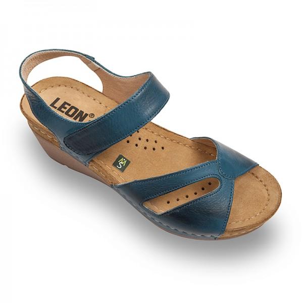 Sandale ortopedice pentru dame Leon 1056 Albastru