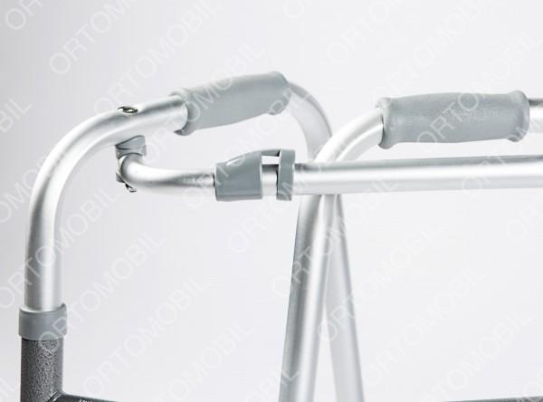 Pachet - Cadru de mers pliabil Ortomobil 013203 + Baston din lemn Ortomobil 022501