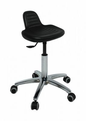Scaun cu scaun integrat, cu baza cromata