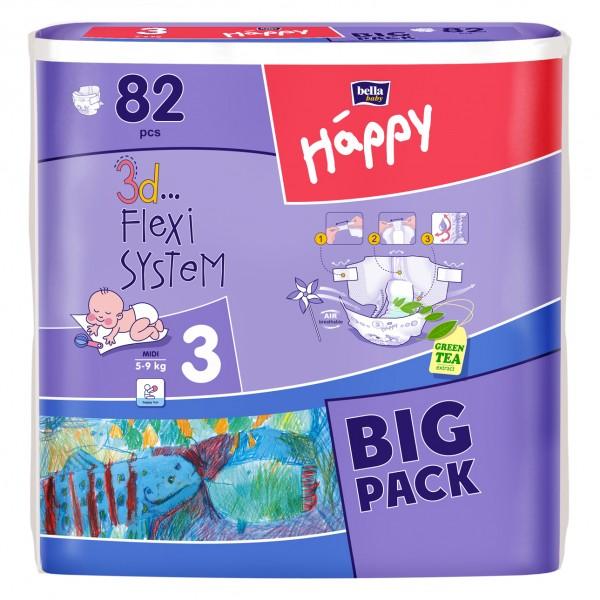 Scutece copii Happy Big Pack 54 - 82 buc