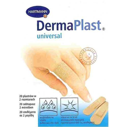Plasture rezistent la apa pe suport culoarea pielii DERMAPLAST aqua stripuri (2 marimi)