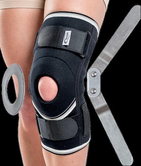 Orteza de genunchi cu suport patelar si articulatie mobila SRT304