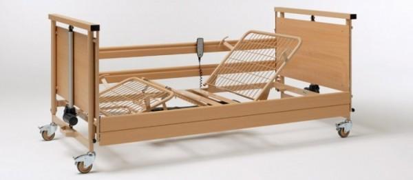 Pat spital electric lemn Allura 120 cm latime