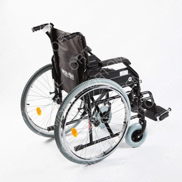 Carucior handicap cu roti pline, pliabil cu detasare rapida a rotilor Ortomobil 040203