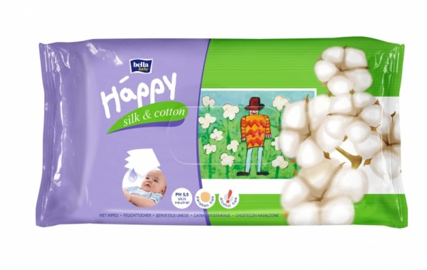 Servetele umede Happy Silk & Cotton