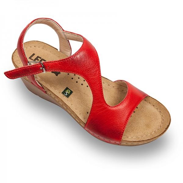 Sandale ortopedice pentru dame Leon 1050 Rosu