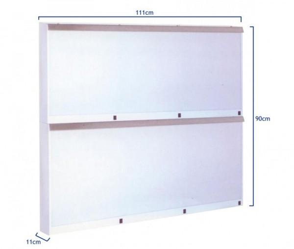 Negatoscop de perete cu aprindere directa, 6 cadre (3x2)