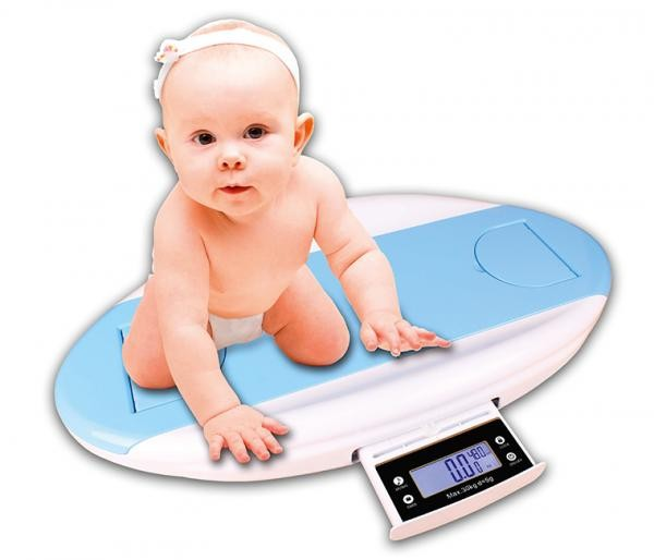Cantar professional pentru bebelusi cu dispozitiv incorporat de masurare a inaltimii si circumferint