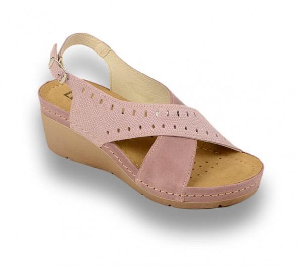 Sandale ortopedice pentru dame cu platforma Leon 1030 Rose