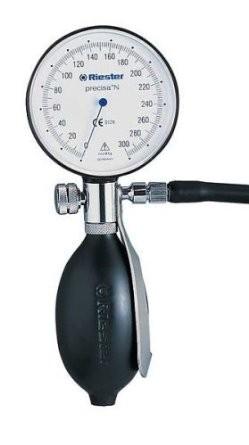 Tensiometru mecanic fara stetoscop cu manseta pentru adulti Precisa N Riester RIE1360-107