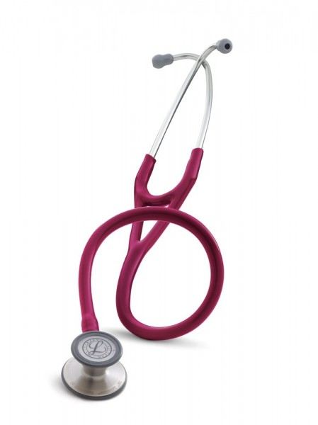 Stetoscop 3M Littmann Cardiology III Roz Inchis - Zmeura 3148 + 2 Cd-uri educationale