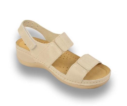 Sandale ortopedice pentru dame Leon 945 Bej