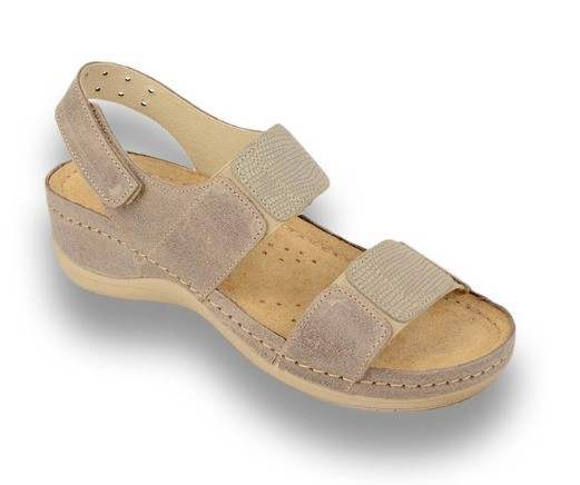 Sandale ortopedice pentru dame Leon 945 Maro