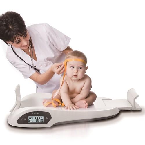 Cantar professional pentru bebelusi cu dispozitiv digital încorporat de masurare a lungimii(cadou ba