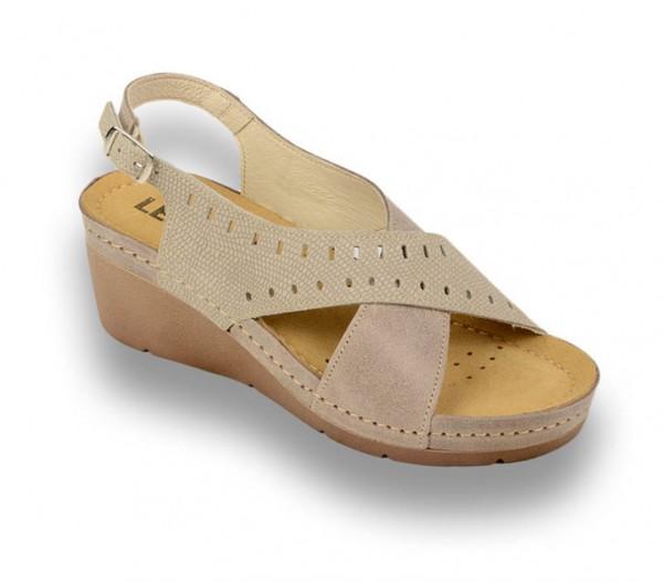 Sandale ortopedice pentru dame cu platforma Leon 1030 Maro