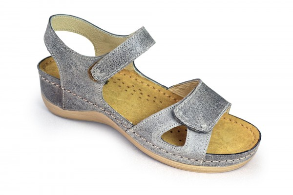 Sandale ortopedice pentru dame Leon 935 Gri