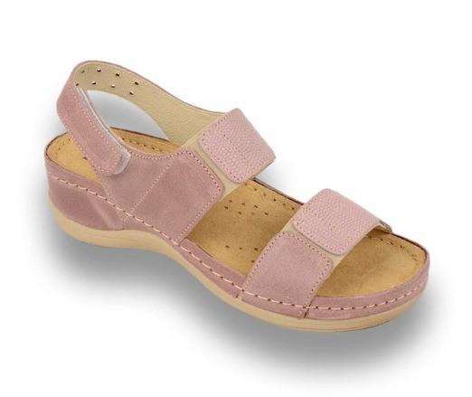 Sandale ortopedice pentru dame Leon 945 Rose