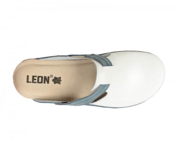 Saboti ortopedici pentru dame Leon 153 Albastru cu Alb