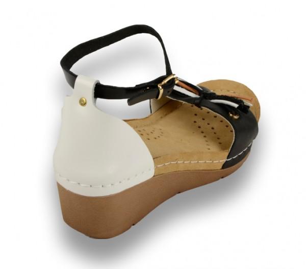 Sandale ortopedice pentru dame cu platforma Leon 1025 Negru