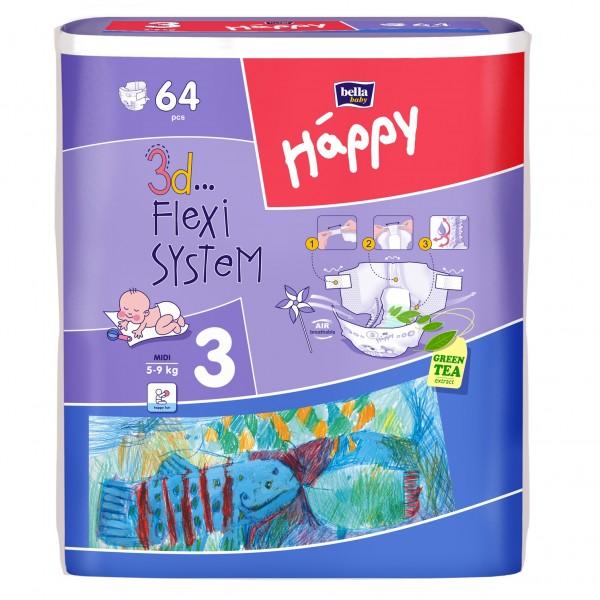 Scutece copii Happy Mega Pack 46 - 64 buc