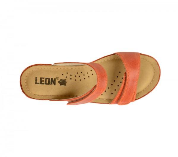 Sandale ortopedice pentru dame cu platforma Leon 1040 Portocaliu