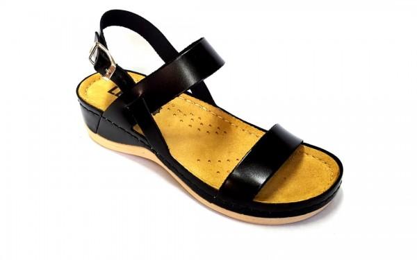 Sandale ortopedice pentru dame cu doua barete Leon 920 Negru